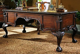 Villa Florence · Hooker Furniture Marble Top Writing Desk